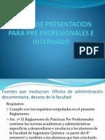 Cartas de Presentacion Para Pre Profesionales e Internado
