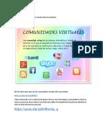 Debates de Las Comunidades Virtuales Del Conocimiento