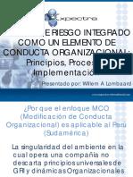 Gestión de Riesgos Integrados en Seguridad Como Elemento de La Modificación de La Conducta Organi
