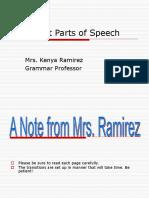 The Eight Parts of Speech- Final PPT