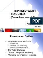 The Philippine Water Supply and Sanitation Situation