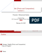 CSS English Precis and Composition Lecture 1