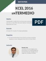 Datavisa Excel 2016 Intermedio
