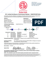 Nexxt Solutions Etl Verified Certificate for Cat5e 3 Connector Channel