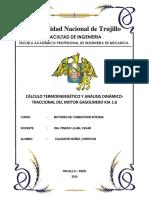 CÁLCULO TERMOENERGÉTICO Y ANÁLISIS DINÁMICO-TRACCIONAL DEL MOTOR GASOLINERO KIA SPORTAGE 1.6 GDi 4x2 97 kW (132 CV)