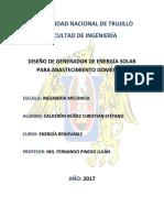 DISEÑO DE GENERADOR DE ENERGÍA SOLAR PARA ABASTECIMIENTO DOMÉSTICO