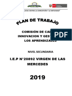 PLAN de TRABAJO Gestion de Los Aprendizajes 2018