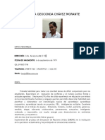 Curriculum Vitae Lorena Chávez