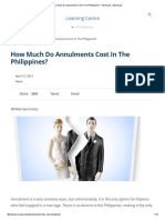 Annulment Cost April 2015