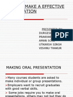 Presentation Skills - Durgesh Shukla Team