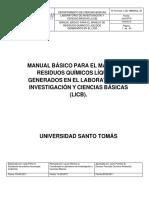 Manual Residuos Quìmicos Lab 2018
