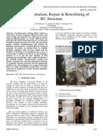 Strength Evaluation, Repair & Retrofitting of RC Structure