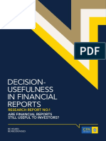 Decision Usefulness in Financial Reports Research Report No. 1