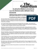 Harris attacks Biden's record on race in Democratic debate's key moment | US news | The Guardian