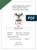 Historia Clinica Endocrinologia