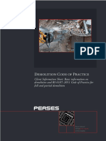 Demolition Code of Practice Client Information Sheet 1