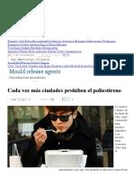 Cada Vez Más Ciudades Prohíben El Poliestireno _ Diario Ecologia