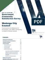 Wodonga Council Community Satisfaction Survey 2019
