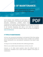 Article - 9 Types of Maintenance