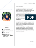 Application Letter Off and Resume Mutia