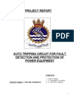 Auto Tripping Circuit for Fault Detection and Protection of Power Equipment