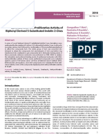 Synthesis and Antiproliferative Activity of Biphenyl Derived 5substitutedindolin2ones