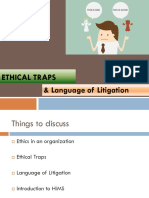 Ethical Traps and Language of Litigation