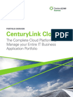CenturyLink Cloud - Portfolio Overview
