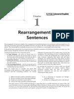 Re-arrange sentences