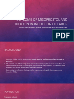 Outcome of Misoprostol And Oxytocin in the induction of labor