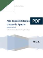 Alta Disponibilidad Para Cluster de Apache