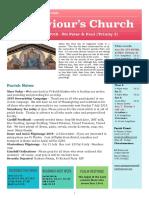 st saviours newsletter - 30 june 2019 - sts peter   paul