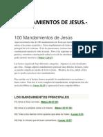 Mandamientos de Jesus