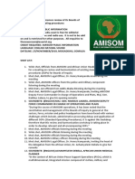 AMISOM Commences Review of Its Boards of Inquiry Standard Operating Procedures
