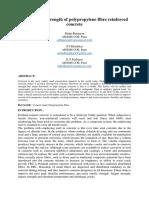 Compressive Strength of Polypropylene Fibre Reinforced Concrete