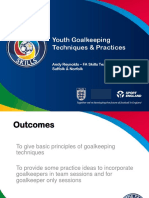 Youth Goalkeepoing Techniques and Practices