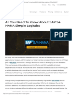 All You Need to Know About SAP S4 HANA Simple Logistics