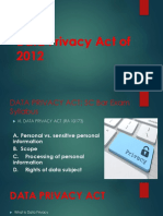 Data Privacy Act of 2012