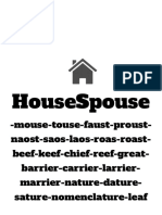 housespouse writingfighting