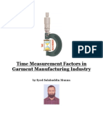 Time Measurement Factors in Garment Manufacturing Industry