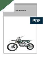 XT250 XB35B Parts List