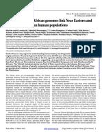 Pleistocene North African genomes link Near Eastern and sub-Saharan African human populations