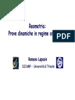 Reometria - Prove Dinamiche in Regime Oscillatorio
