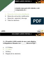 Examen Afex Nivel 1 Resuelto