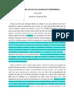 DISRUPCIÓN DEL GOCE EN LAS LOCURAS BAJO TRASNFERENCIA ERIC LAURENT