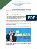 35 Milagres de Jesus