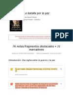 """Notas de """" La Batalla Por La Paz """""""
