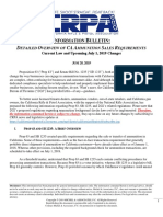 Info Bulletin re Detailed Overview of New CA Ammo Laws - CRPA + Michel and Associates