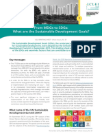 From From MDGs to SDGs