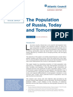 The Population of Russia, Today and Tomorrow